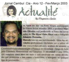 2003 Jornal Cambui e Cia - Ano 12 - Março
