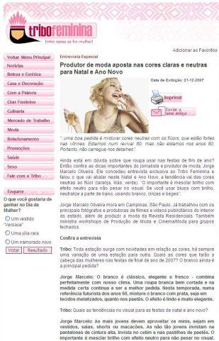 2007 Tribo Feminina - Entrevista Especial - 21.12