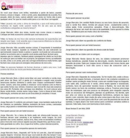 2007 Tribo Feminina - Entrevista Especial - 21.120