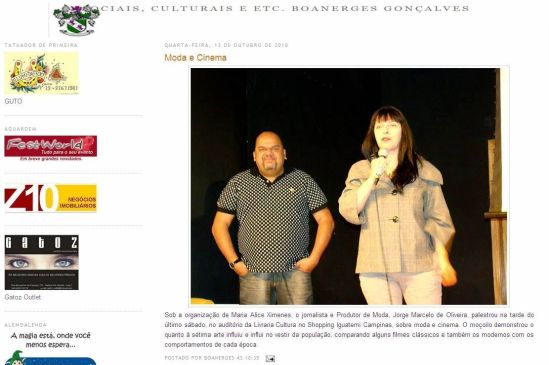 2010 Clipping III Semana de Moda e Cultura no blog Sociais, Culturais e ETC. (Out2010)