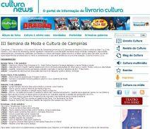 2010 Clipping III Semana de Moda e Cultura no Portal Livraria Cultura(Out2010)