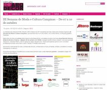2010 Clipping III Semana de Moda e Cultura no site Circuito Arq+Decor(Out2010)