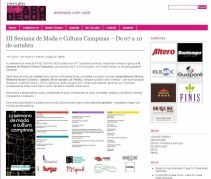 2010 Clipping III Semana de Moda e Cultura no site Circuito Arq+Decor(Out2010)