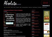 2010 Clipping III Semana de Moda e Cultura no site Revista Absoluta(Out2010)