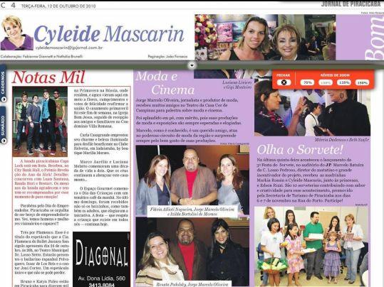 2010 Coluna Cyleide Mascarin - Jornal de Piracicaba (12.10.2010)