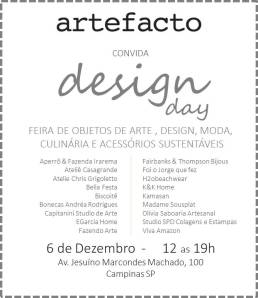 2018 Foi o Jorge Que Fez na Artefacto Design Day (Dezembro)